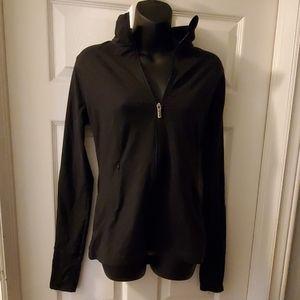 Knockout by Victoria' Secret black zip up sweater